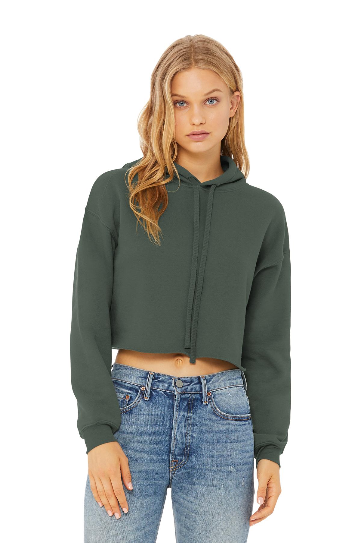 98af0f53d7138b BELLA+CANVAS ® Women s Sponge Fleece Cropped Fleece Hoodie ...
