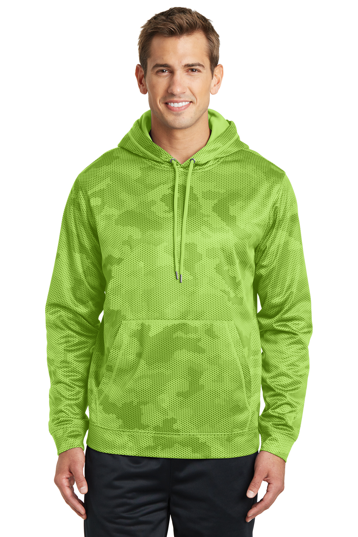 Sport Tek Sport Wick Camohex Fleece Hooded Pullover Performance Sweatshirts Fleece Sport Tek Ready for you to customize for your event or team. sport tek sport wick camohex fleece
