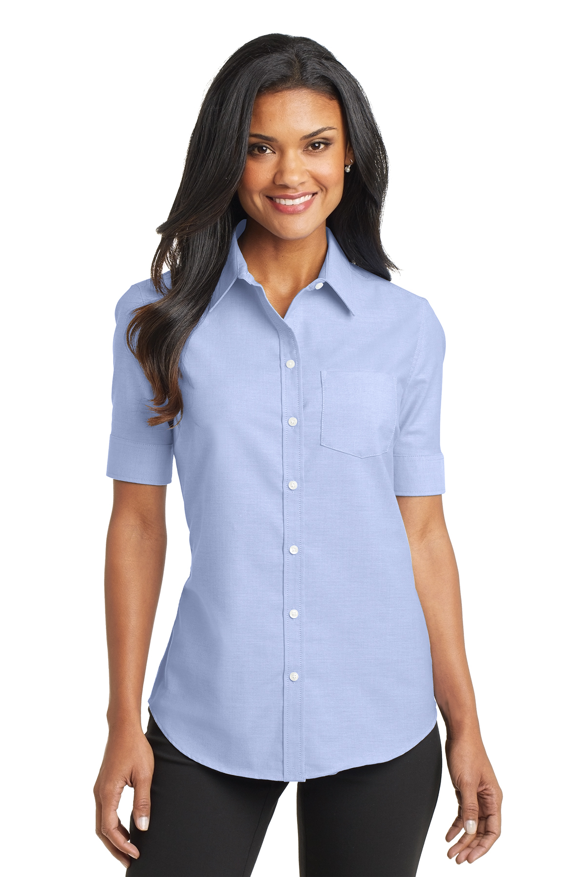 60624d29b Port Authority® Ladies Short Sleeve SuperPro™ Oxford Shirt | Oxfords ...