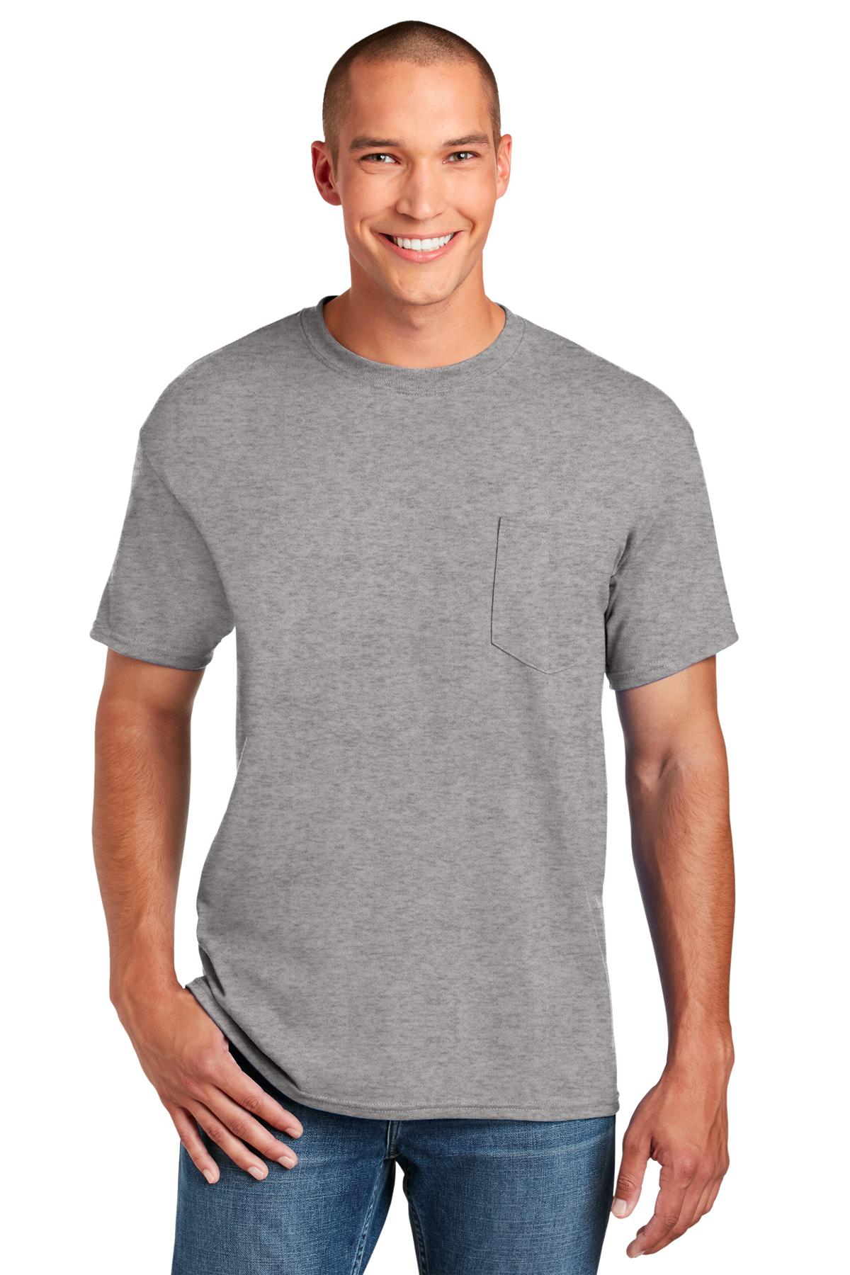 Gildan - DryBlend 50 Cotton/50 Poly Pocket T-Shirt