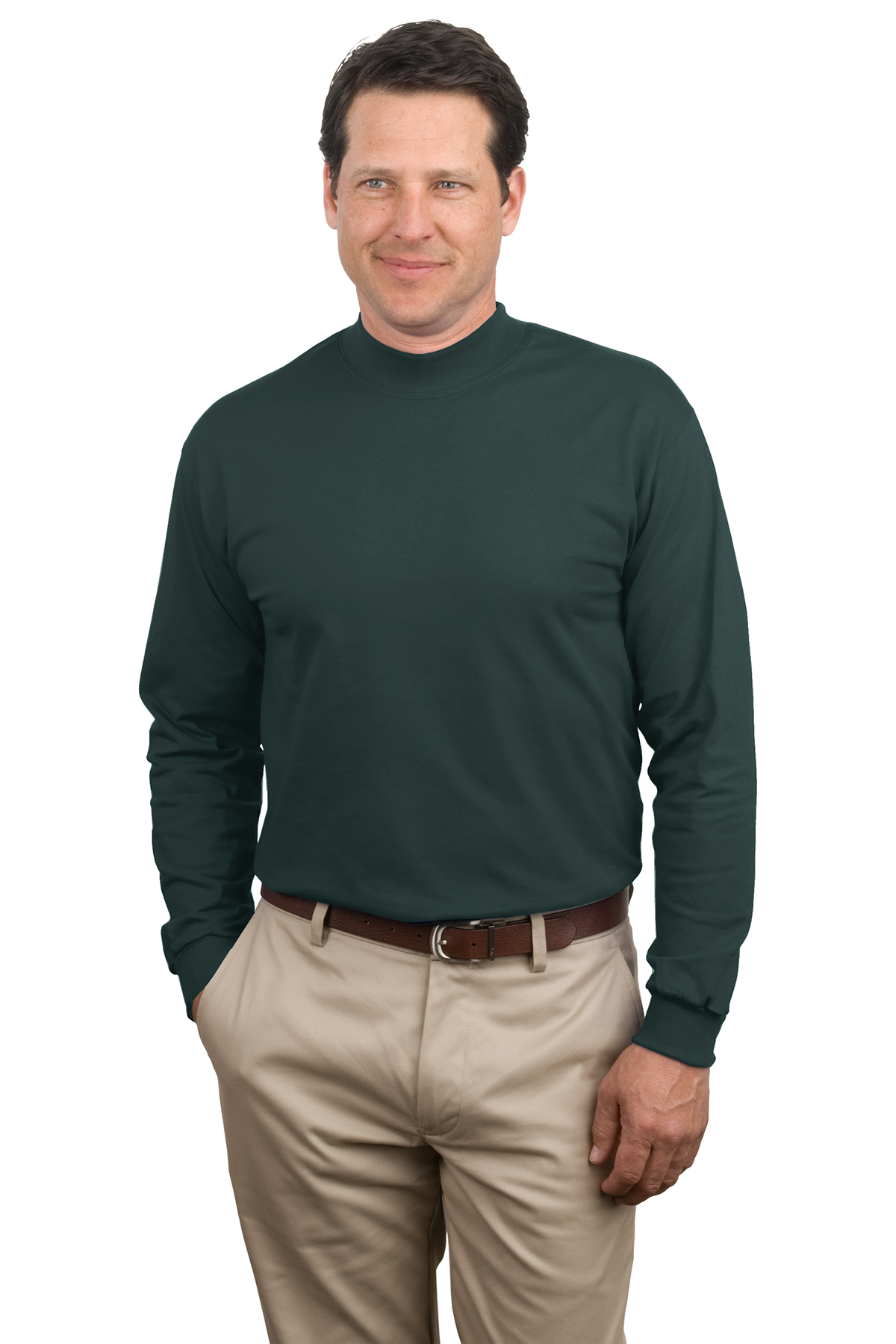 PC61M Port /& Company Mock Turtleneck