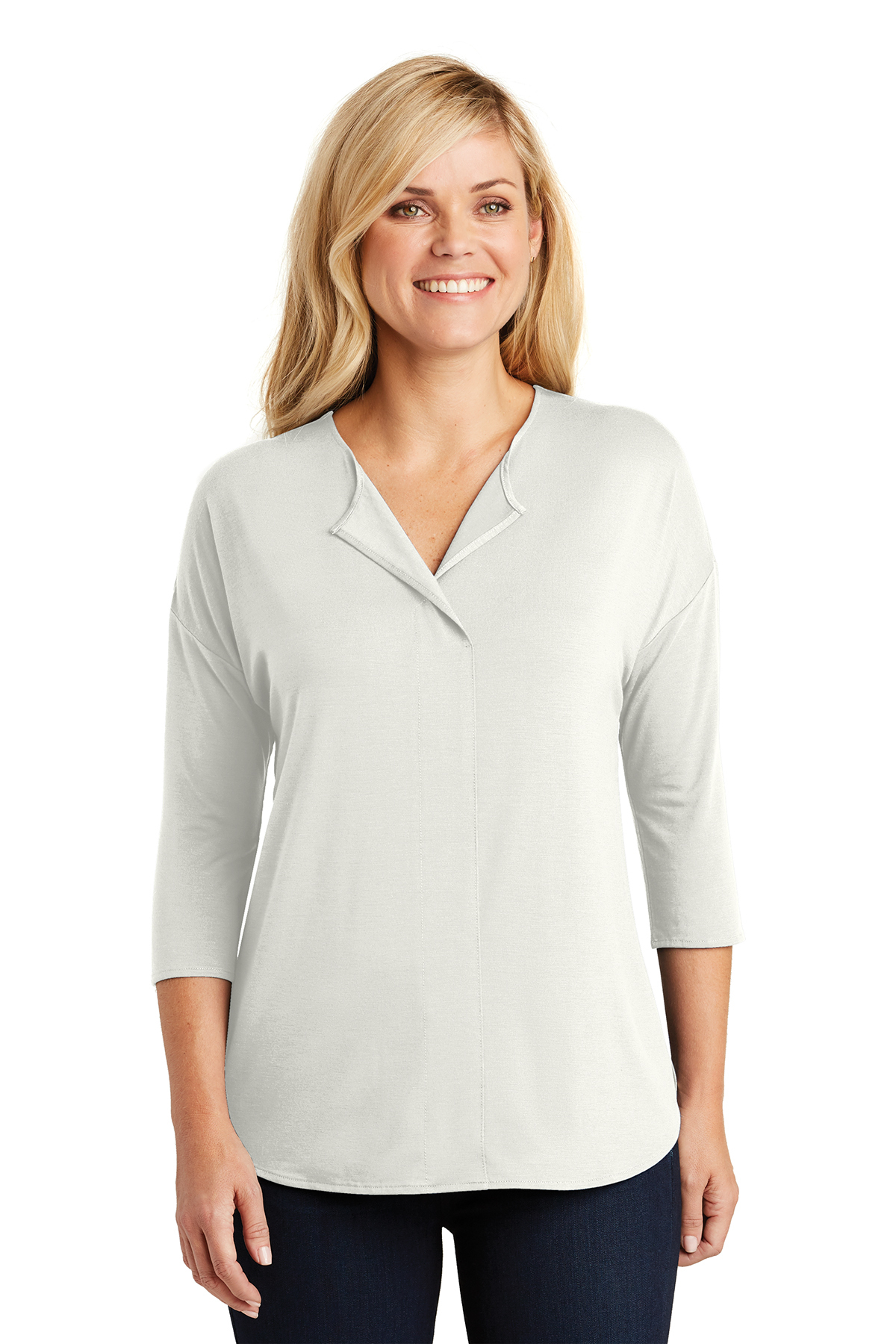 226a3d939 Port Authority® Ladies Concept 3 4-Sleeve Soft Split Neck Top. Brand Logo