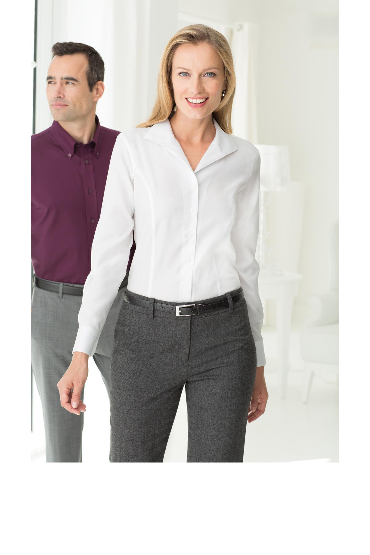 0d59963d CLOSEOUT Red House® - Ladies Herringbone Non-Iron Button-Down Shirt ...