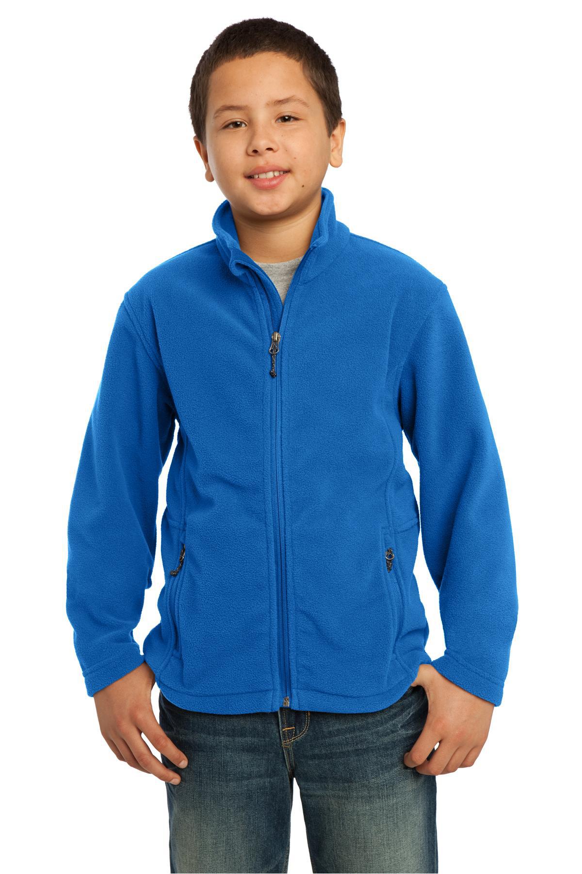 Port Authority Youth Value Fleece Jacket Y217 Iron Grey XL