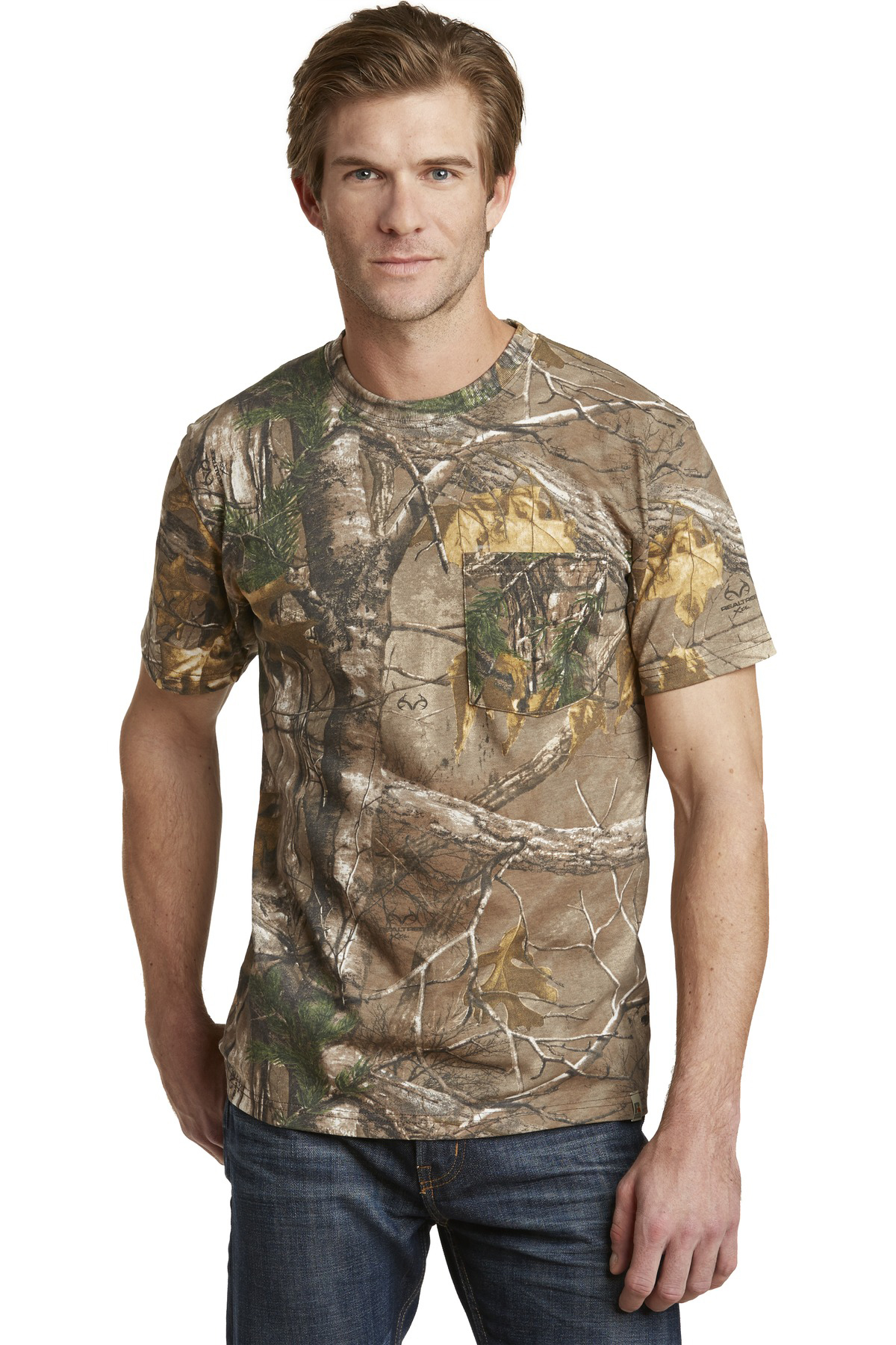 314cb1d9 Russell Outdoors™ - Realtree® Explorer 100% Cotton T-Shirt with Pocket