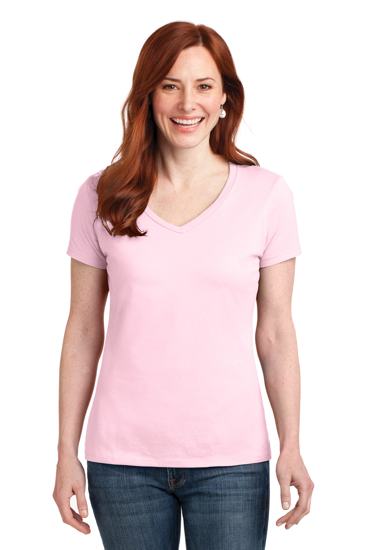 d6200d16 Hanes® Ladies Nano-T® Cotton V-Neck T-Shirt | 100% Cotton | T ...