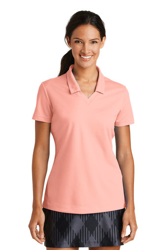 custom ladies dri fit nike polo shirt in pink