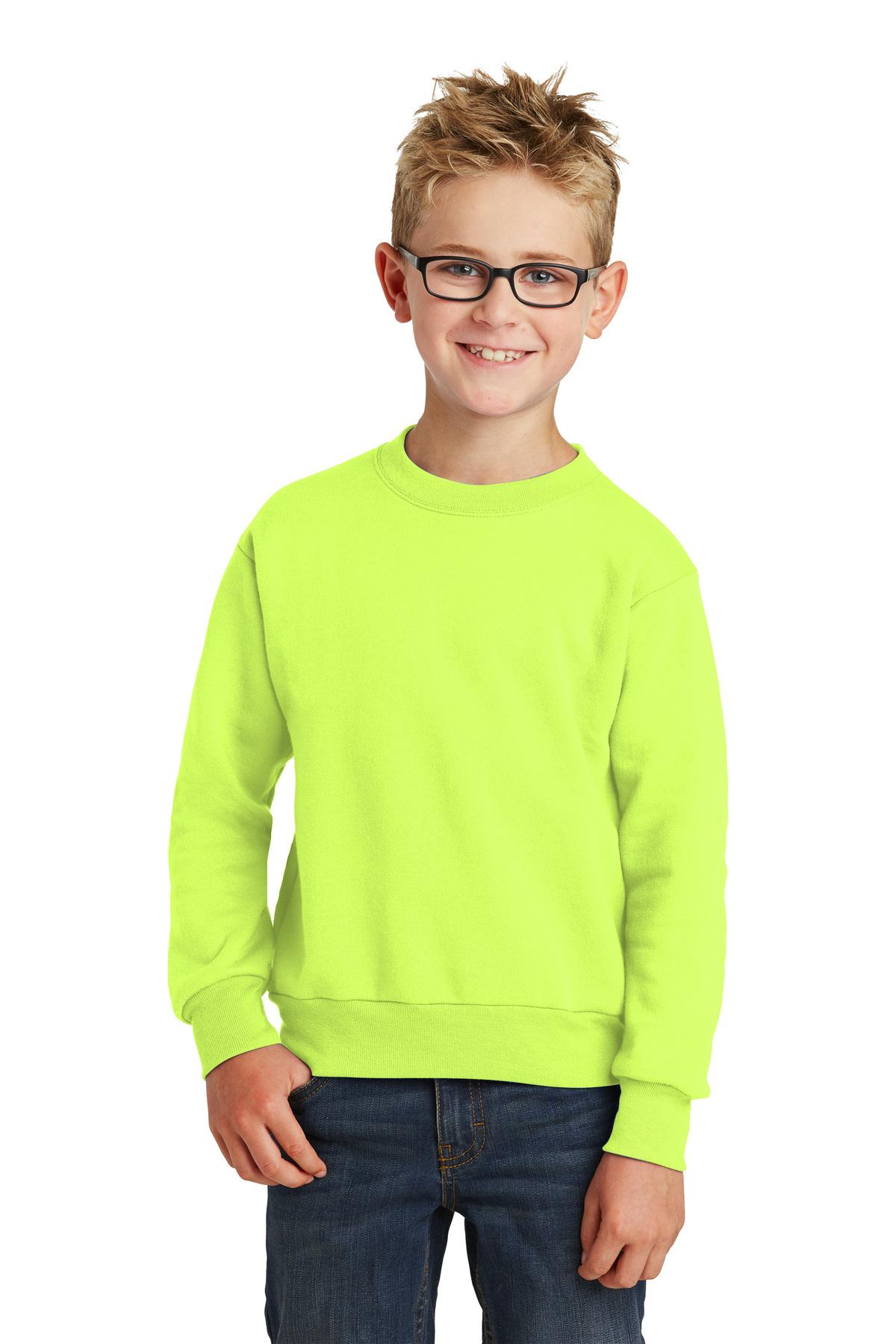 Port /& Company Youth Crewneck Sweatshirt XL Sangria