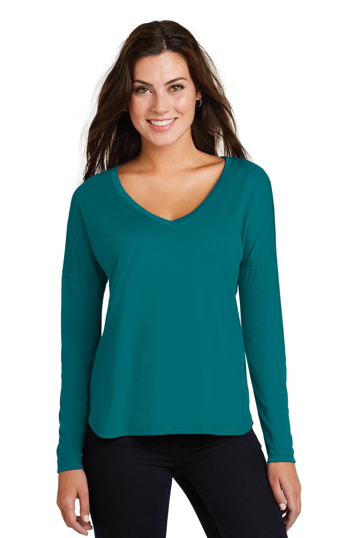 44b72d19 District ® Women's Drapey Long Sleeve Tee | Ladies/Women | T ...
