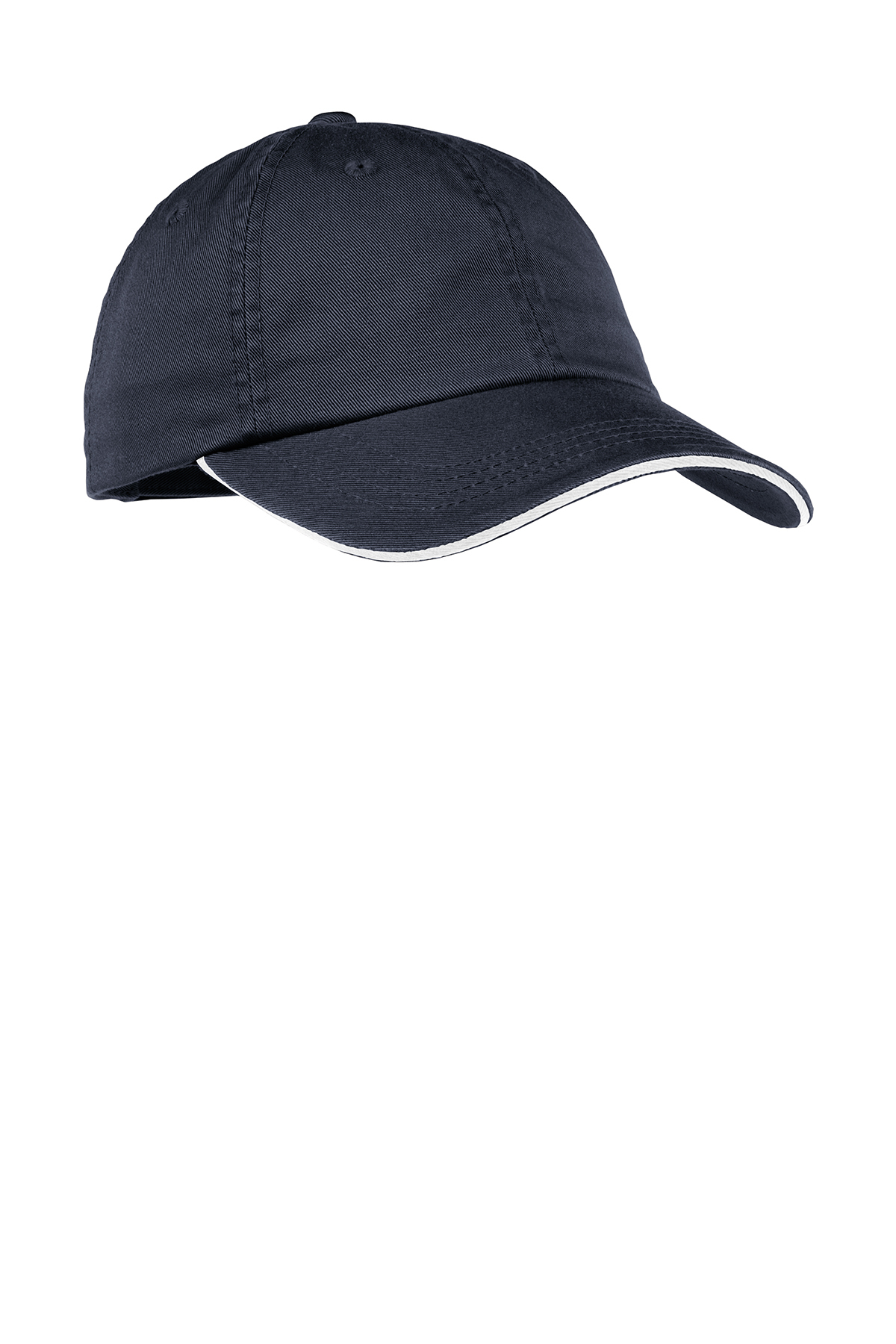 76fd9b06cdd3eb Port Authority® Ladies Sandwich Bill Cap with Striped Closure ...