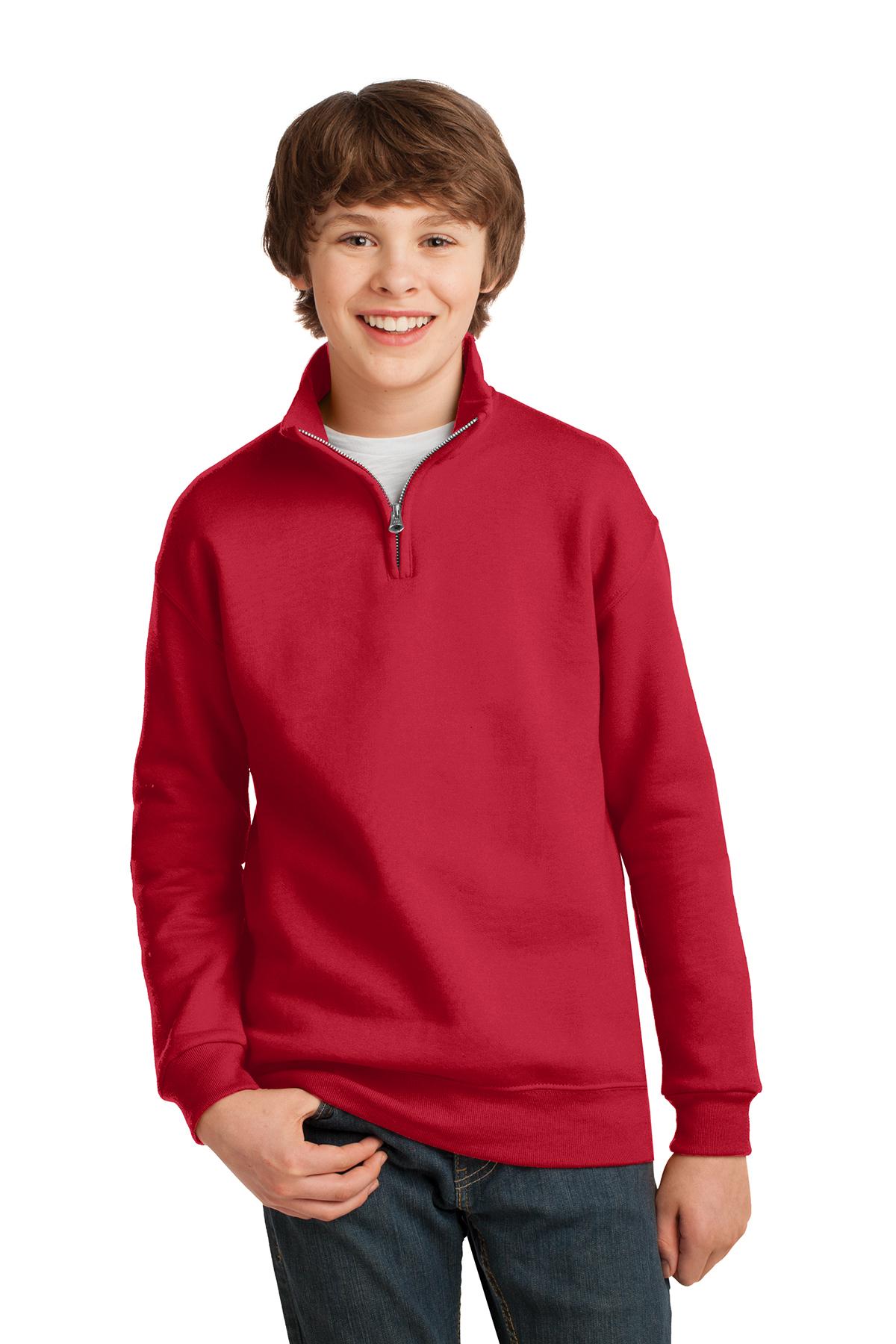NuBlend Quarter-Zip Cadet Collar Sweatshirt 995Y S-XL Jerzees Youth 8 oz