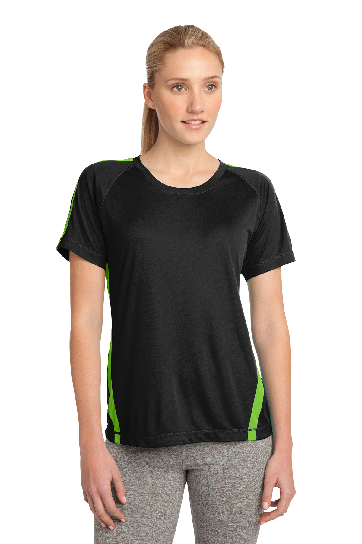 19cbfd6996e796 Sport-Tek® Ladies Colorblock PosiCharge® Competitor™ Tee ...
