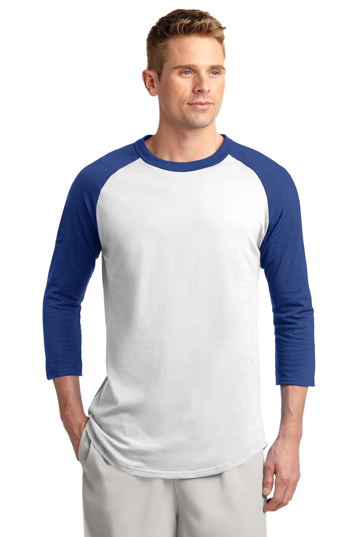71dd39630 Sport-Tek® Colorblock Raglan Jersey | 100% Cotton | T-Shirts | SanMar