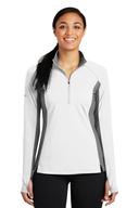 Black / White 1/2-Zip Wind Shirt Sport-Tek Large Jst75
