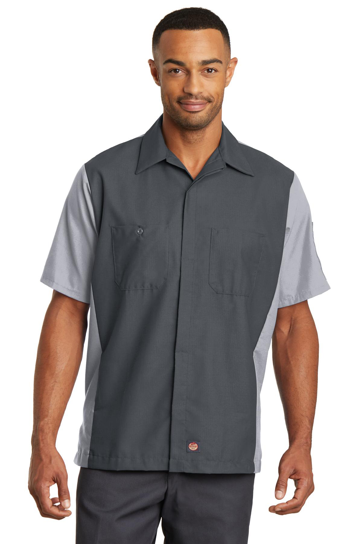 Red Kap® Short Sleeve Ripstop Crew Shirt | Stain/Soil Resistant