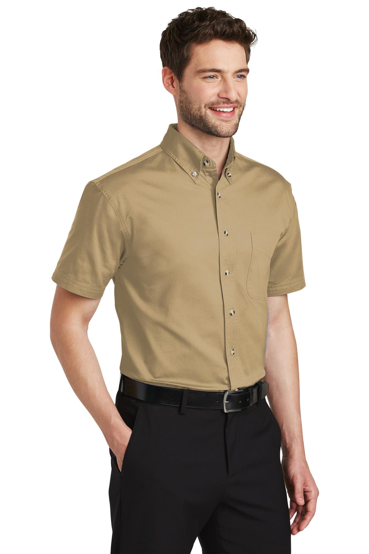 Port Authority Mens Long Sleeve Twill Shirt 4XL White