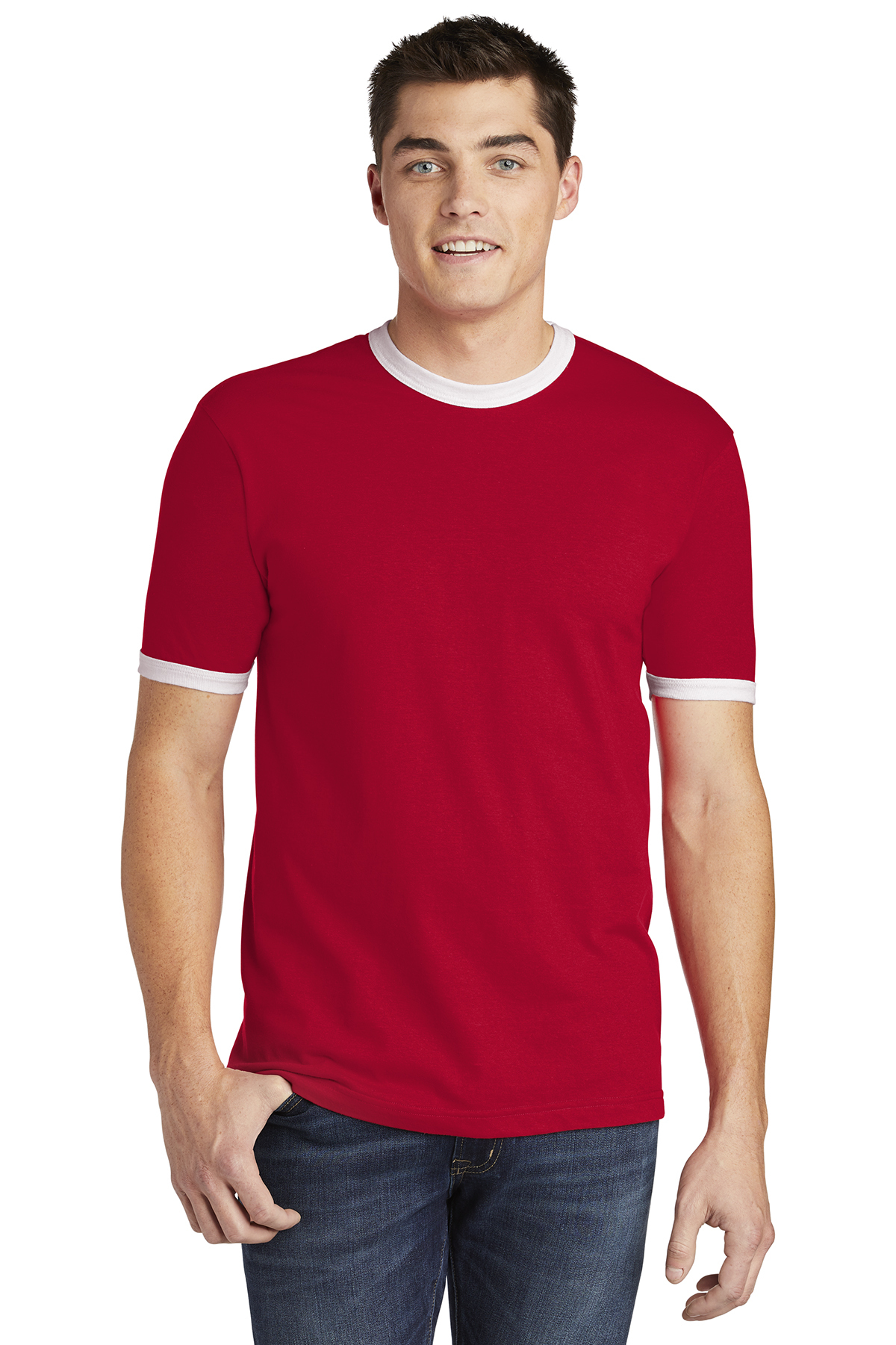 273c1213 American Apparel ® Fine Jersey Ringer T-Shirt | Ring Spun | T-Shirts ...