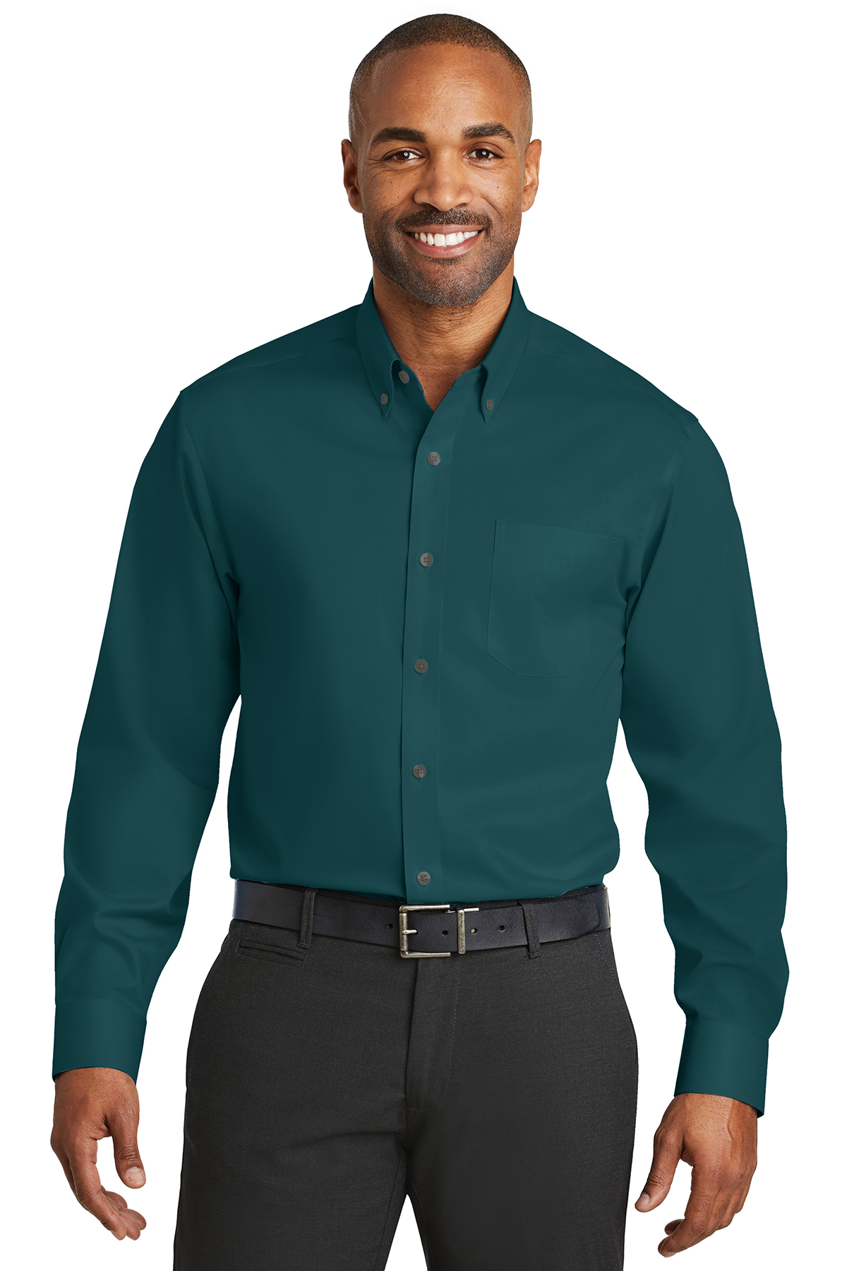 Red House Mini-Check Non-Iron Button-Down Shirts XS Black