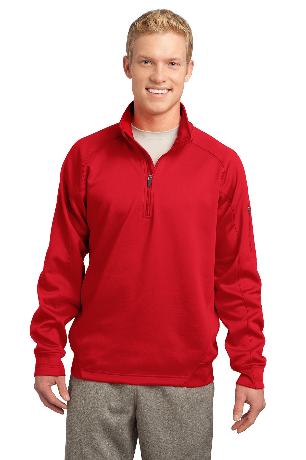 b5f5fd29b4e Sport-Tek® Tech Fleece 1 4-Zip Pullover