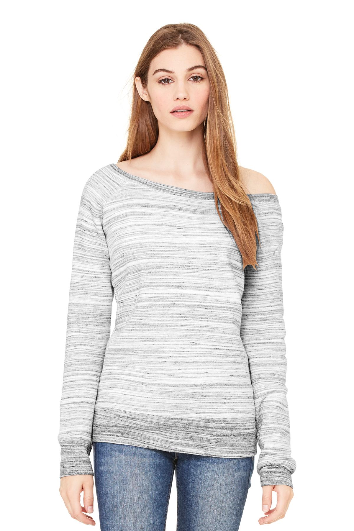 BELLA+CANVAS Women's Sponge Fleece Wide-Neck Sweatshirt