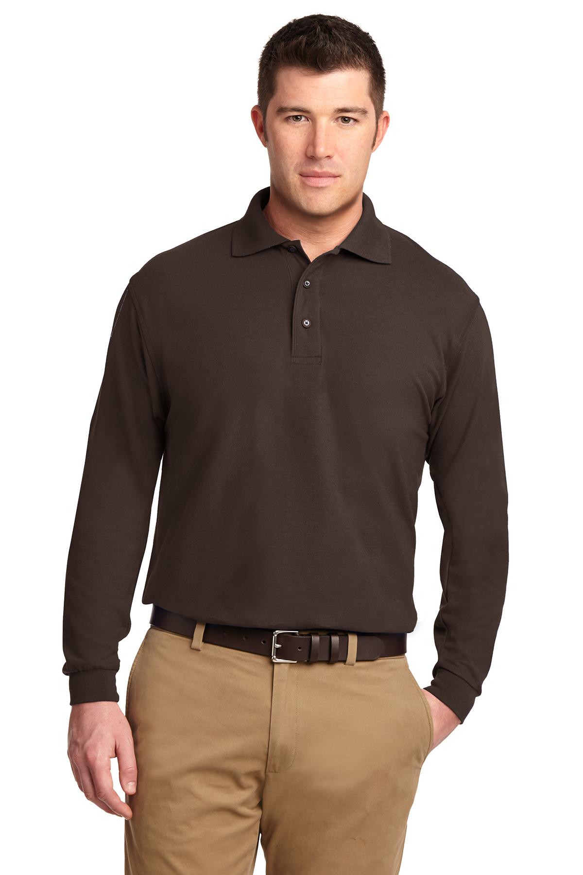 1771df7e Port Authority® Silk Touch™ Long Sleeve Polo | Silk Touch | Polos ...