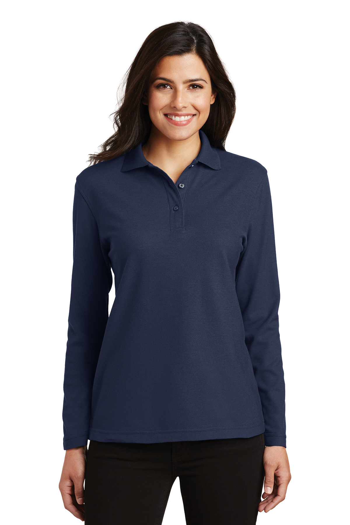 e313d452 Port Authority® Ladies Silk Touch™ Long Sleeve Polo | Silk Touch |  Polos/Knits | SanMar