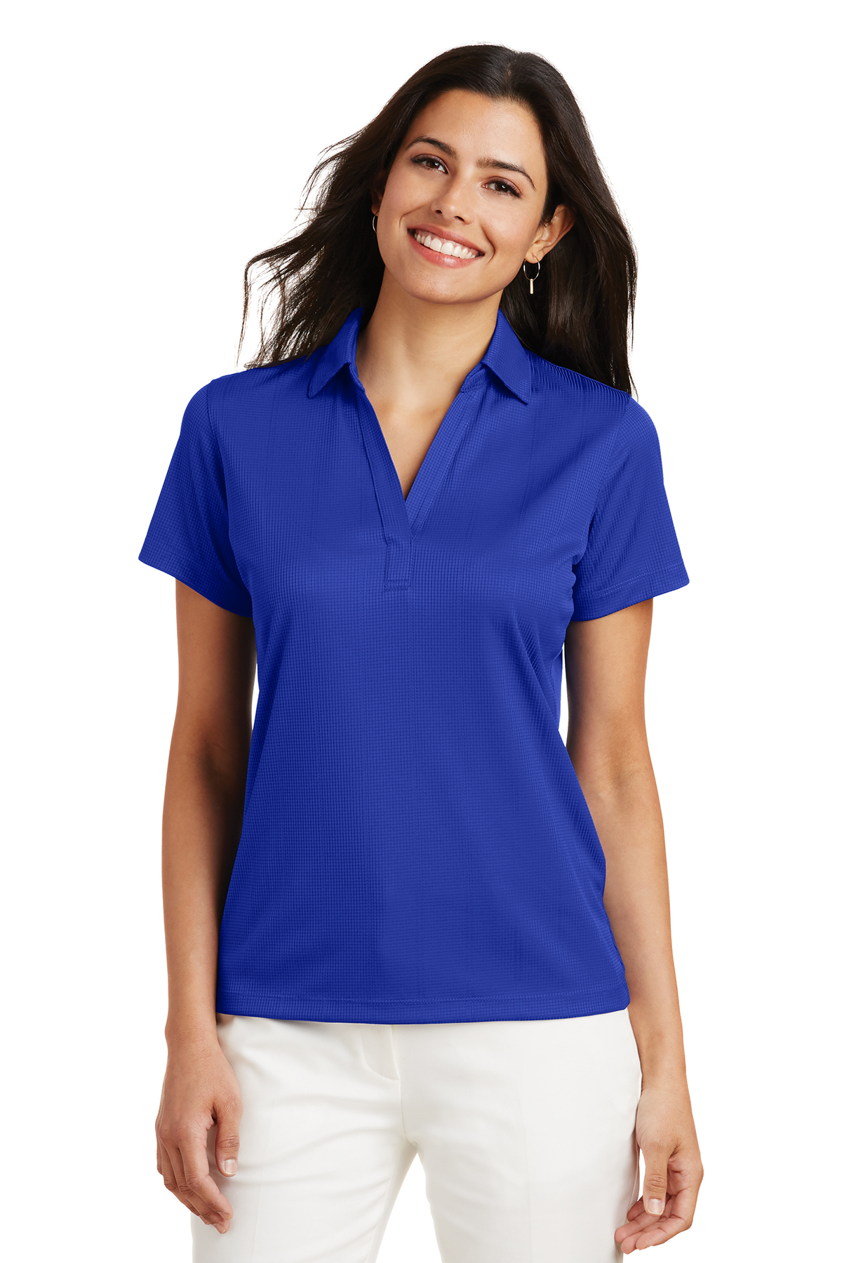 8ff6cf6a9 Port Authority® Ladies Performance Fine Jacquard Polo | Easy Care ...