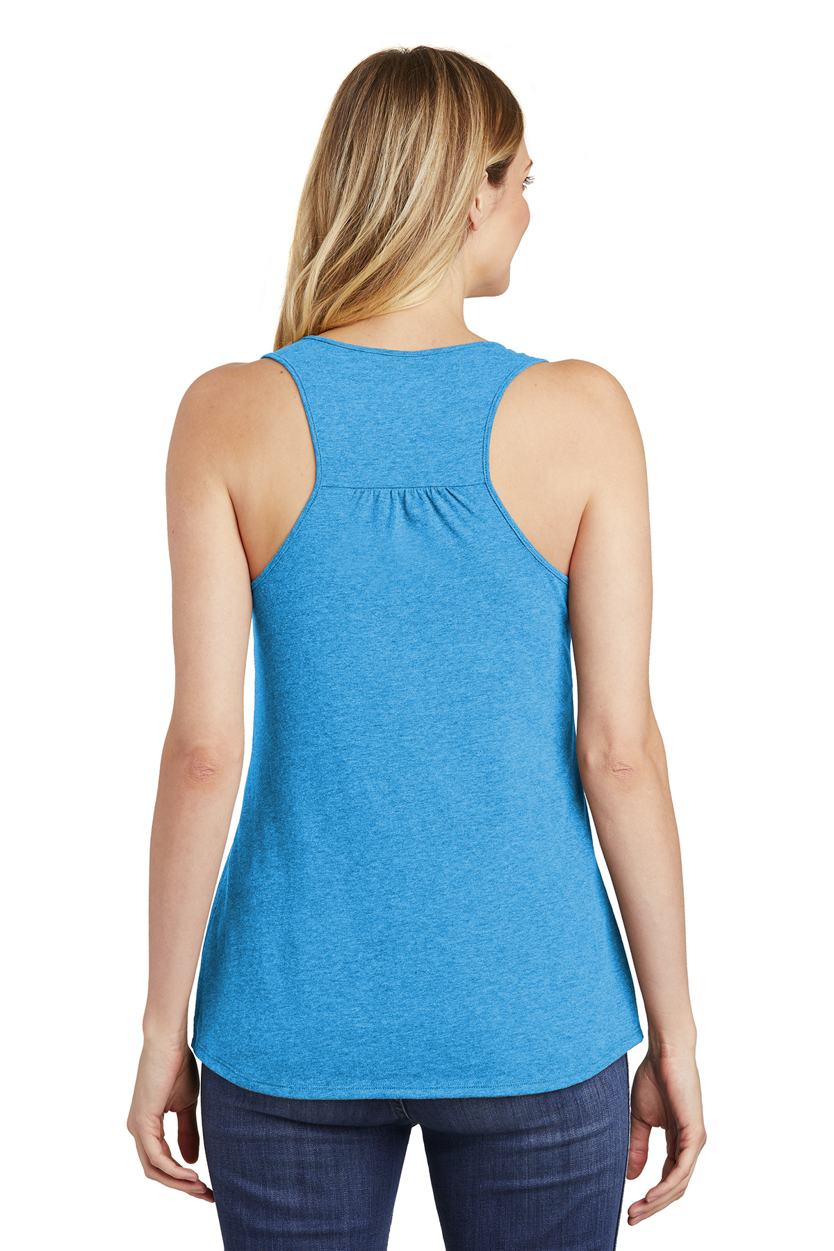 Grey Frost and Classic Red White Heathered Bright Turquoise Deep Royal Black District Tank DT6302 New Navy