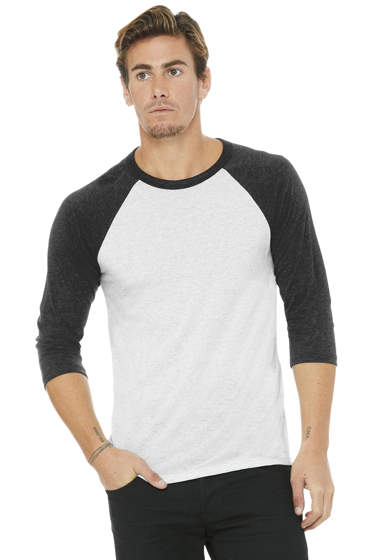 49bdfb32 BELLA+CANVAS ® Unisex 3/4-Sleeve Baseball Tee | Adult/Men | T ...
