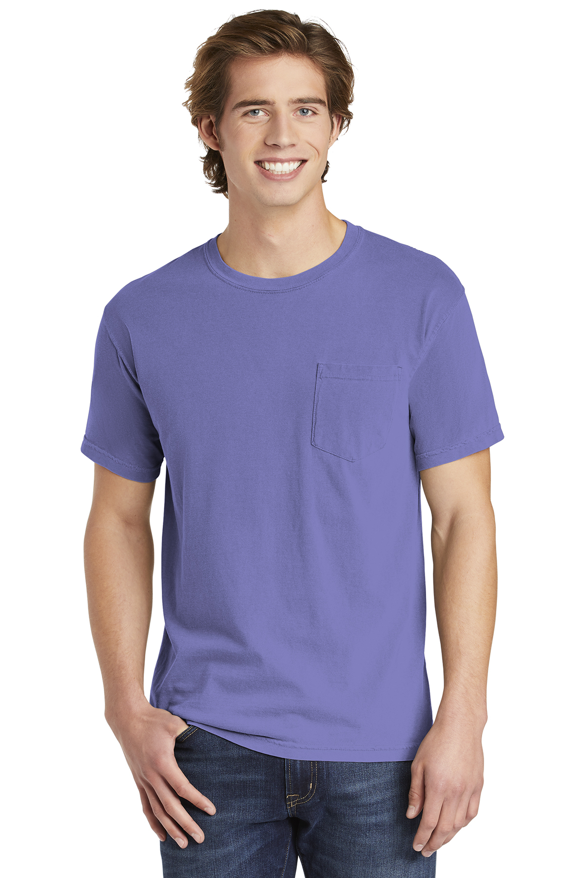 ab45a3b22 Comfort Colors ® Heavyweight Ring Spun Pocket Tee | 6-6.1 100 ...