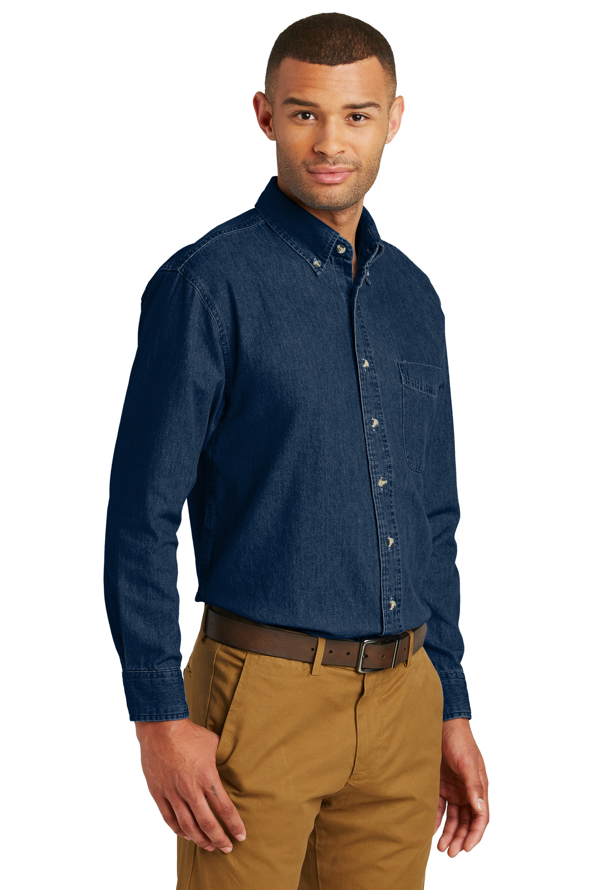 41649b63c9c ... Port   Company® - Long Sleeve Value Denim Shirt. A maximum of 8 logos  have been uploaded. Please remove a logo from My Logos to continue