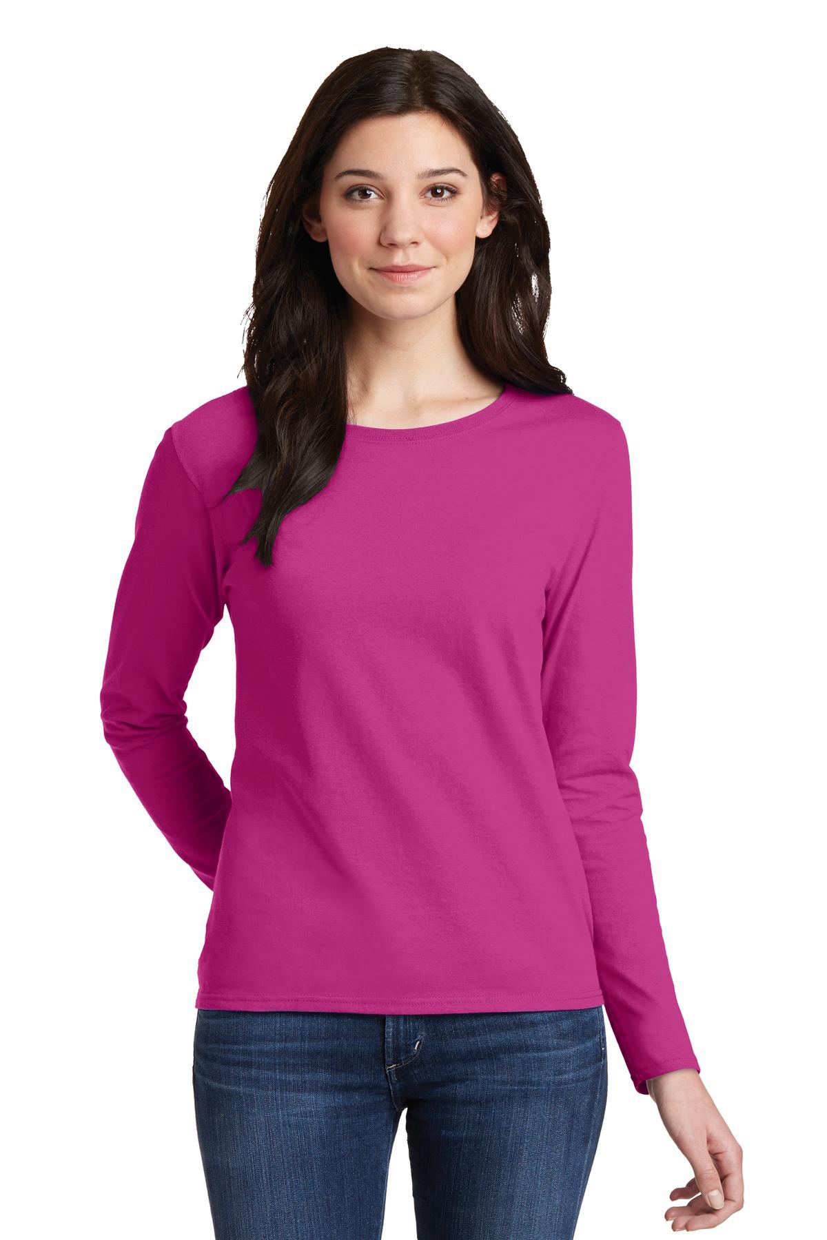 Gildan Ladies Heavy Cotton 100% Cotton Long Sleeve T-Shirt
