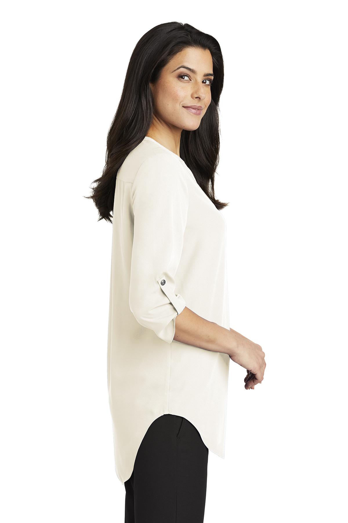 ae890808d94412 Port Authority ® Ladies 3/4-Sleeve Tunic Blouse | Woven Shirts | SanMar