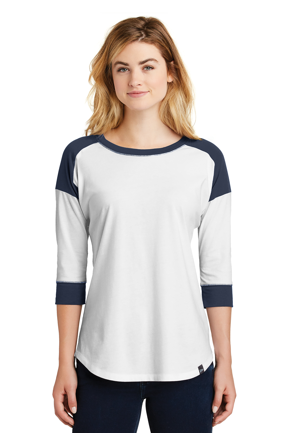 6c70f445f8c New Era® Ladies Heritage Blend 3 4-Sleeve Baseball Raglan Tee