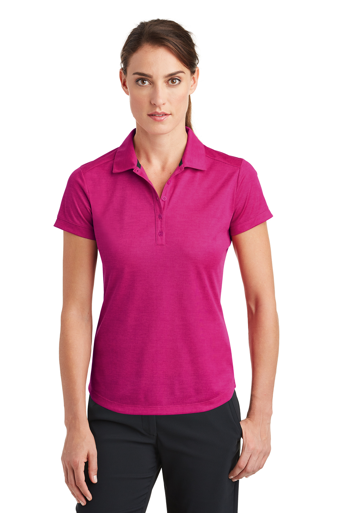 Nike Ladies Dri-FIT Crosshatch Polo  f926fa4815