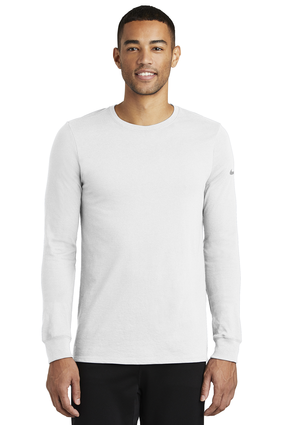 c391ae255d1 Nike Dri-FIT Cotton Poly Long Sleeve Tee