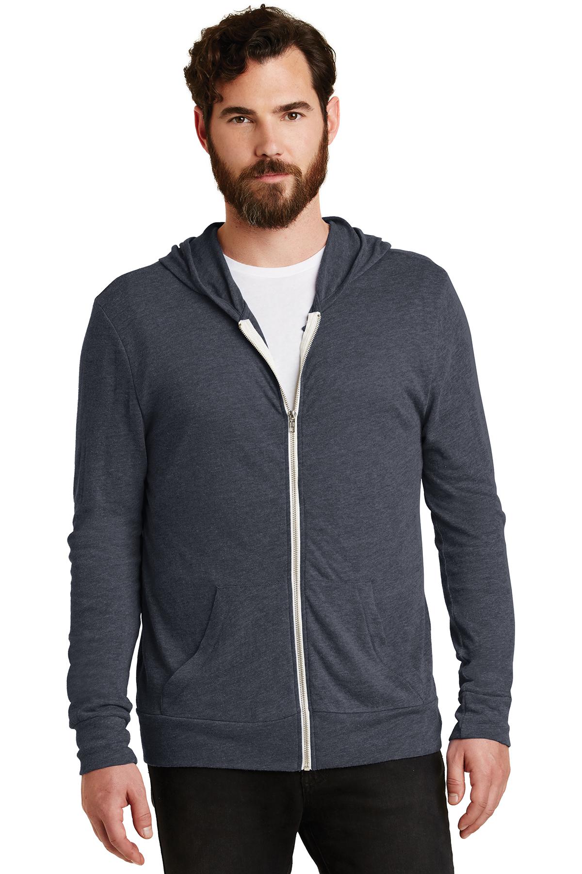 Alternative Apparel Basic Eco Jersey Zip Hoodie | eBay