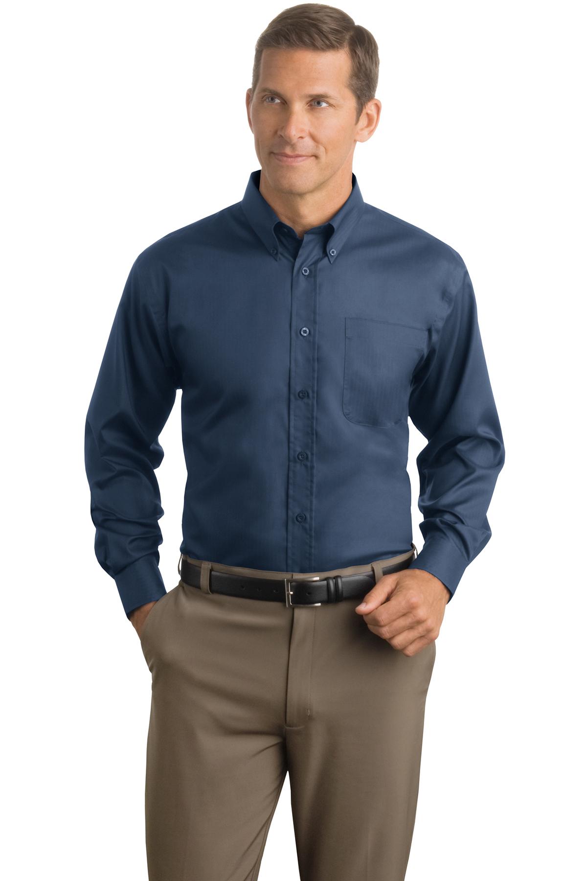 4741bb7b Red House® - Herringbone Non-Iron Button-Down Shirt | Cotton ...
