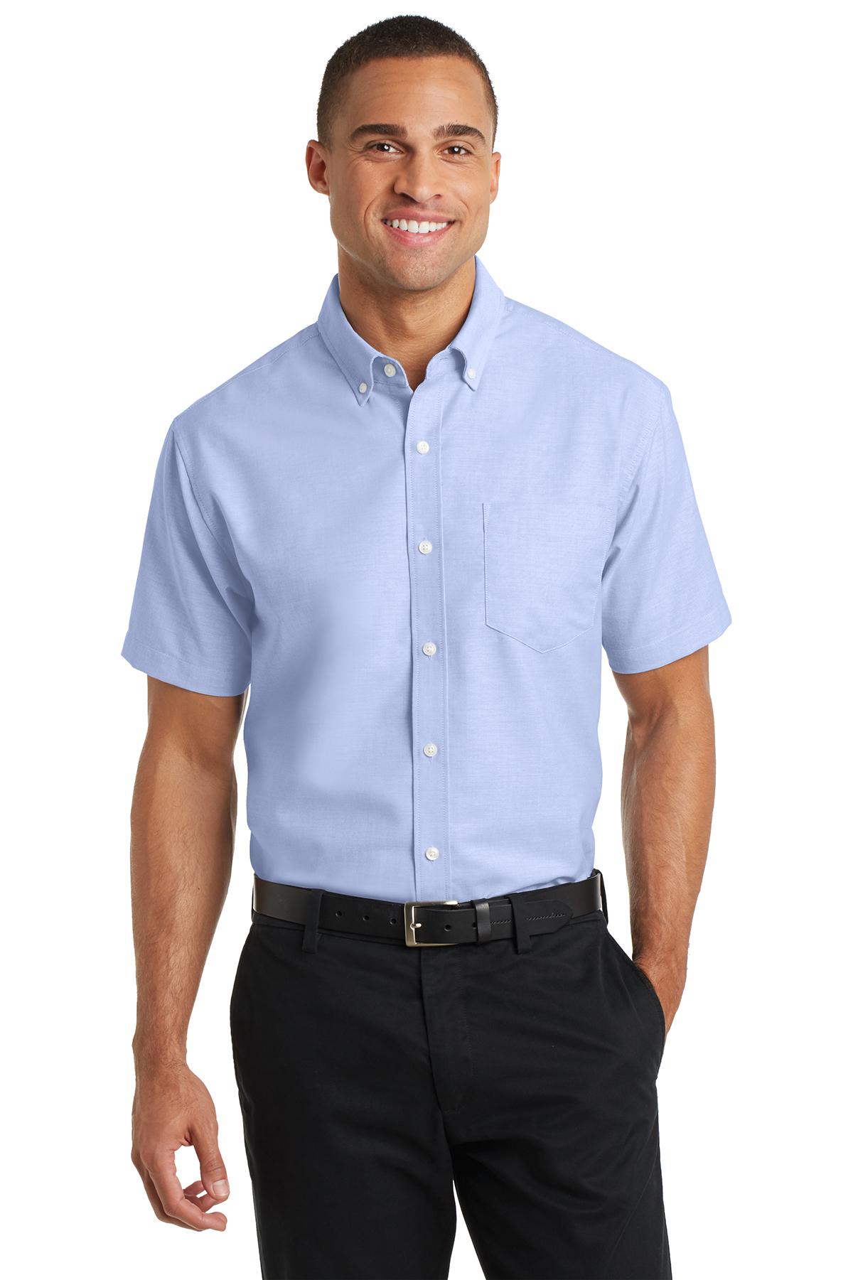 9d8ba6ea8 Port Authority® Short Sleeve SuperPro™ Oxford Shirt | Oxfords ...
