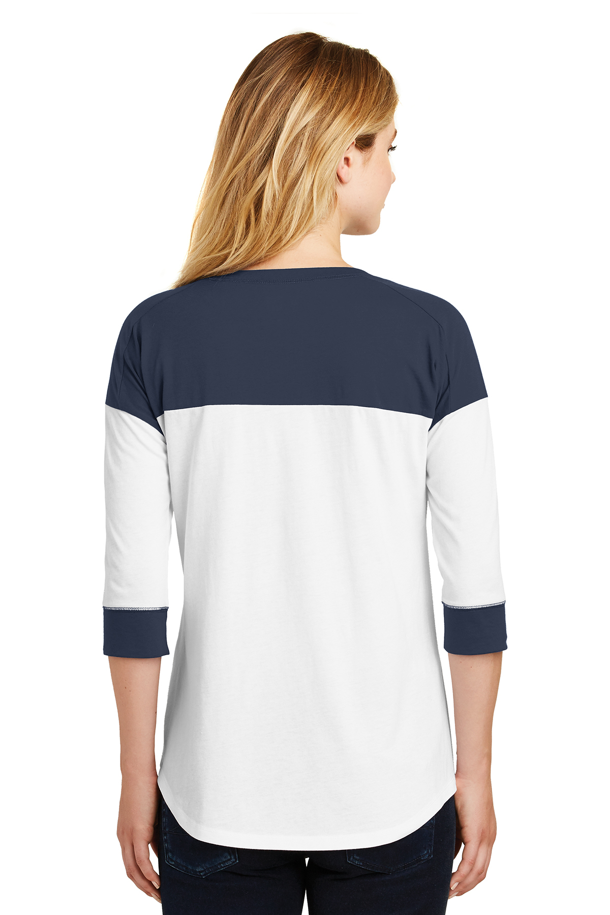 094125394 ... New Era® Ladies Heritage Blend 3/4-Sleeve Baseball Raglan Tee. A  maximum of 8 logos have been uploaded. Please remove a logo from My Logos  to continue