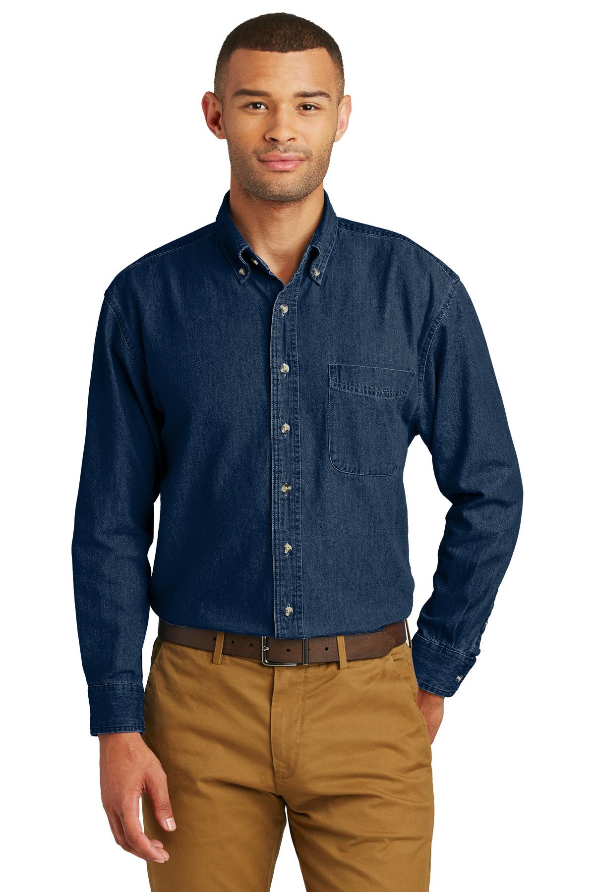 fbb48a0e70c Port   Company® - Long Sleeve Value Denim Shirt