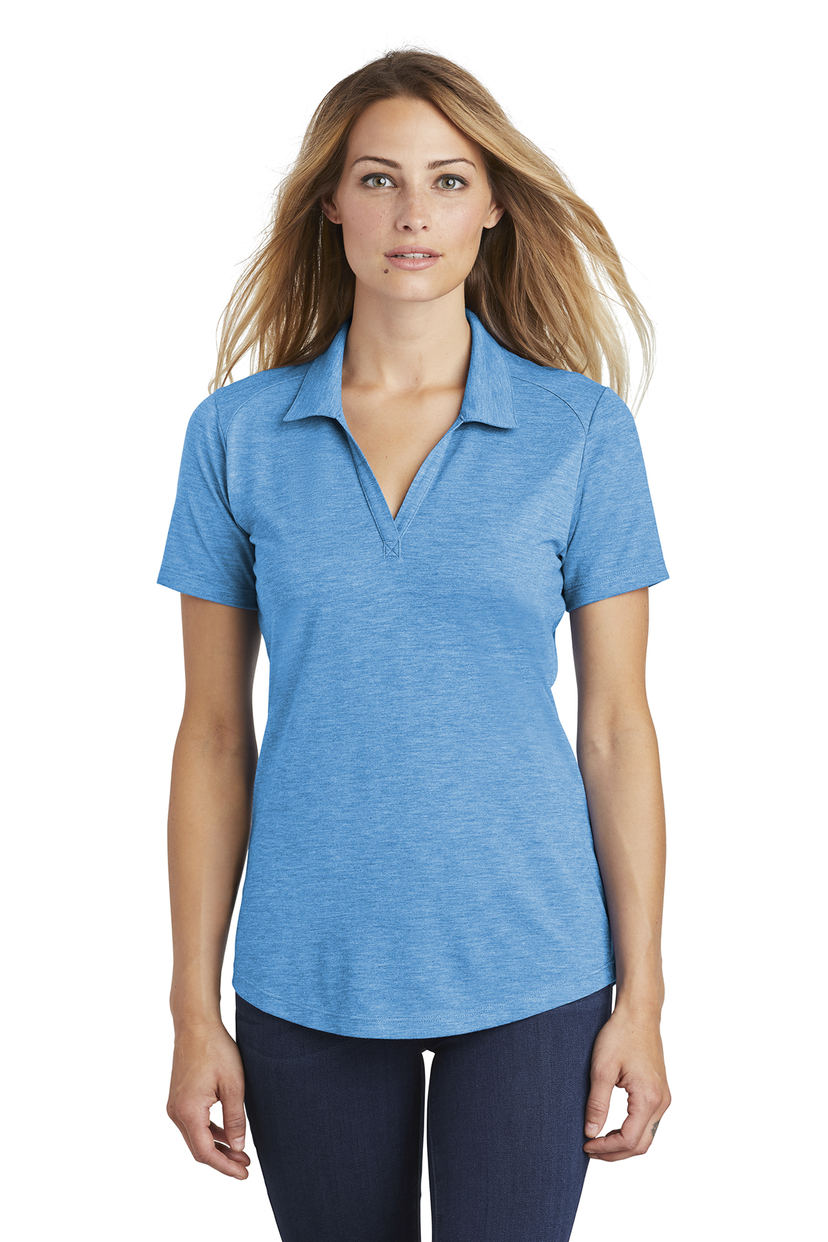 f5e51c00 Sport-Tek ® Ladies PosiCharge ® Tri-Blend Wicking Polo | Polos/Knits ...