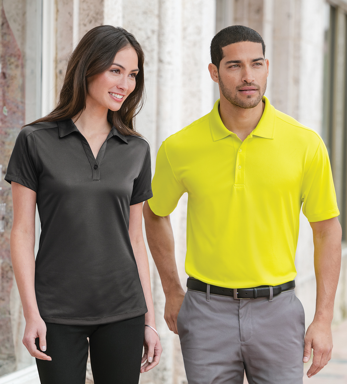 Graphite X-Large Port Authority Ladies Diamond Jacquard Polo