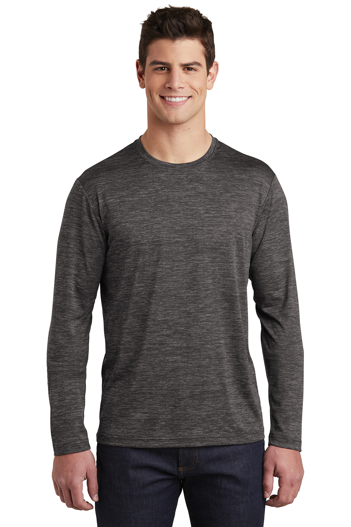 Sport Tek Long Sleeve Posicharge Electric Heather Tee T Shirts Sport Tek Shop with confidence on ebay! sport tek long sleeve posicharge electric heather tee t shirts sport tek