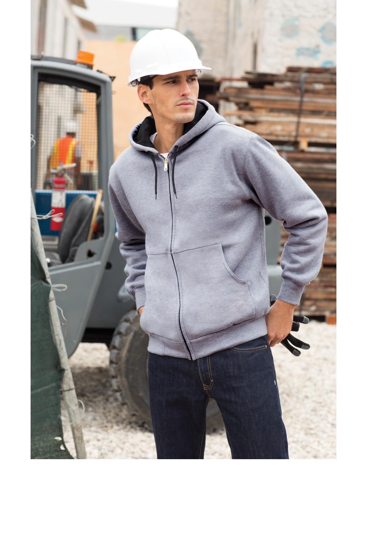 Mens Hooded Sweatshirt Classical Elegance and Originality Erika Costell Logo White S