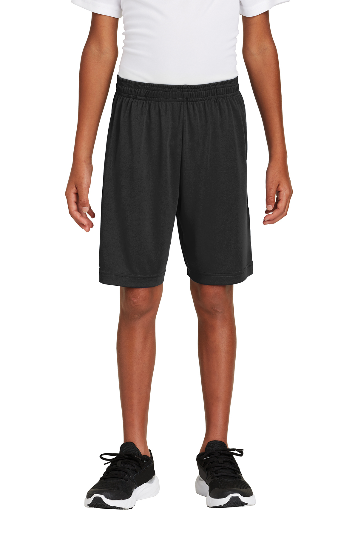 Sport-Tek Youth Elastic Waistband 9 Inches Inseam  Polyester Short YST355