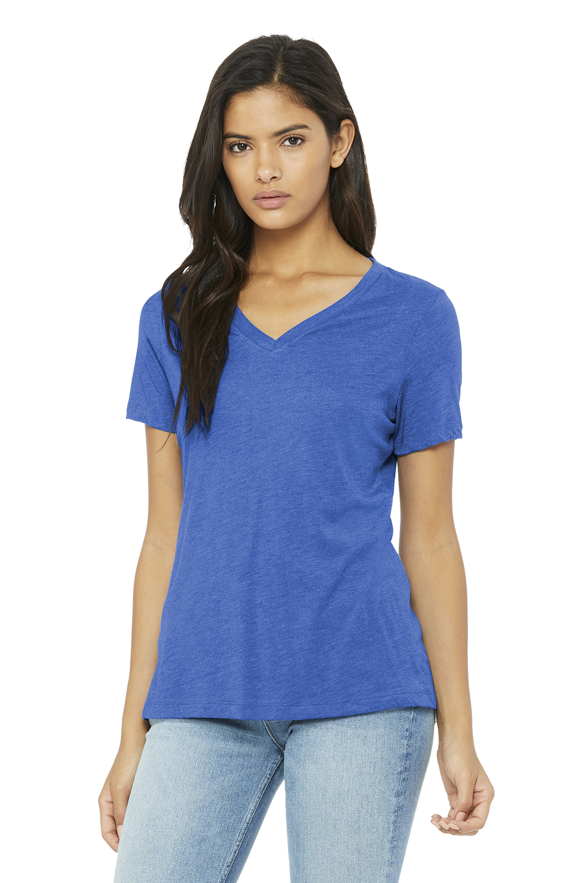 910392c8c BELLA+CANVAS ® Women's Relaxed Jersey Short Sleeve V-Neck Tee