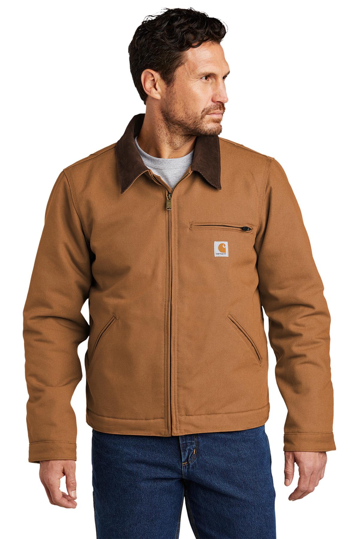 Carhartt Tall Duck Detroit Jacket Tall Outerwear Sanmar [ 1800 x 1200 Pixel ]