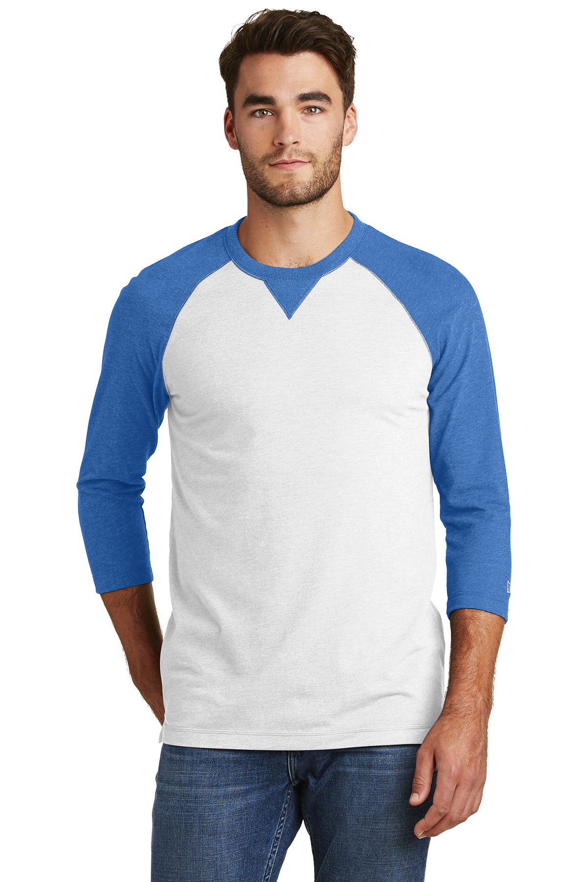 55a3978494fbac New Era® Sueded Cotton Blend 3/4-Sleeve Baseball Raglan Tee ...