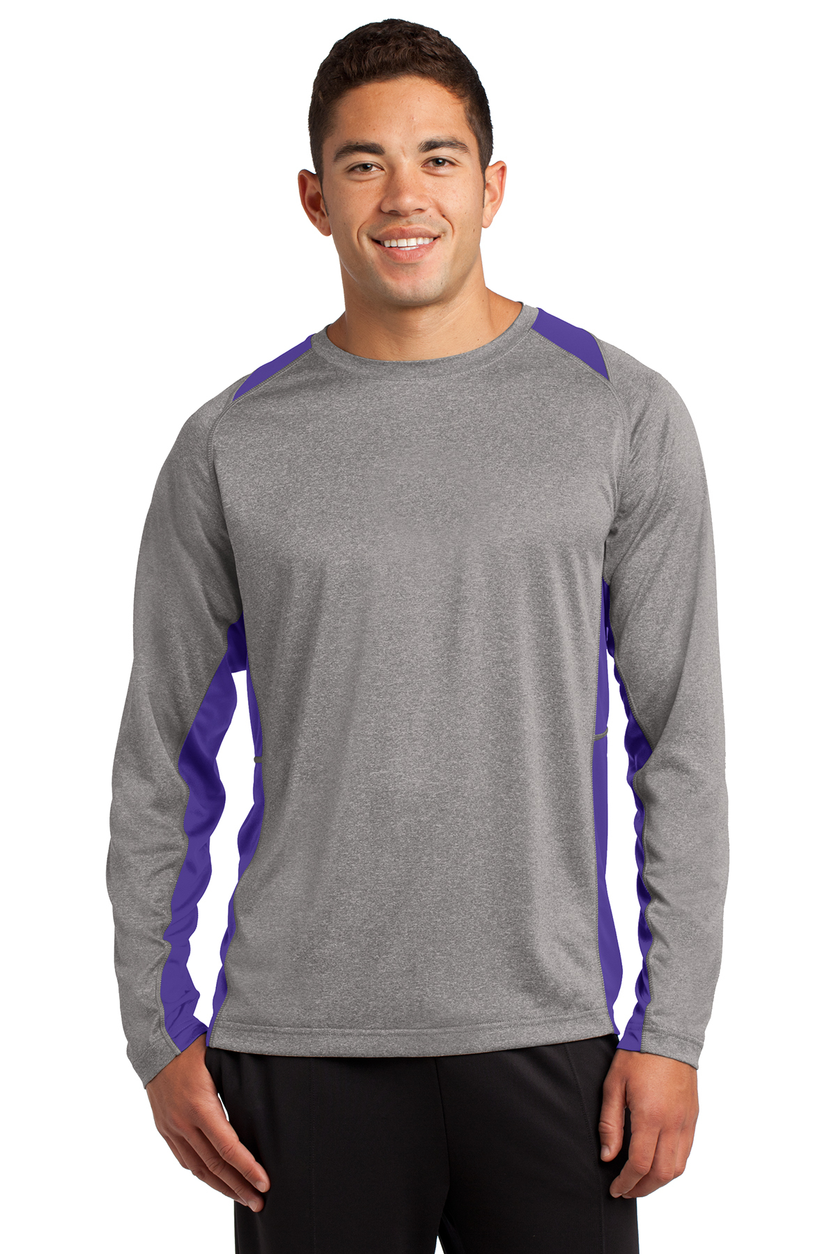 YST361 XL Clementine Sport-Tek Tee Vintage Heather//Purple